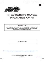 save these instructions - INTEX ++