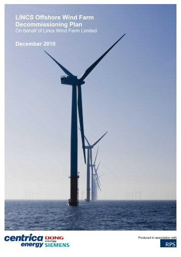 Lincs Offshore Wind Farm Decomissioning Plan - Centrica
