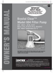 Manual - ABOVE GROUND POOLS, inflatables, ready to use - INTEX