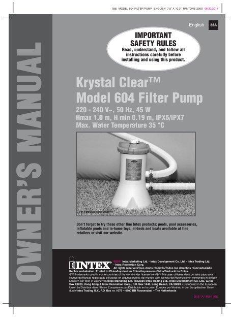 intex saltwater system cs8110 manual