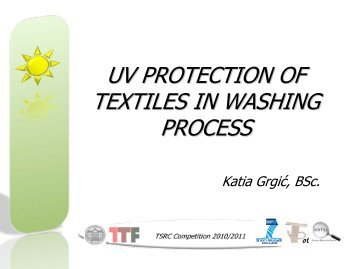 uv protection of textiles in washing process - Project T-Pot