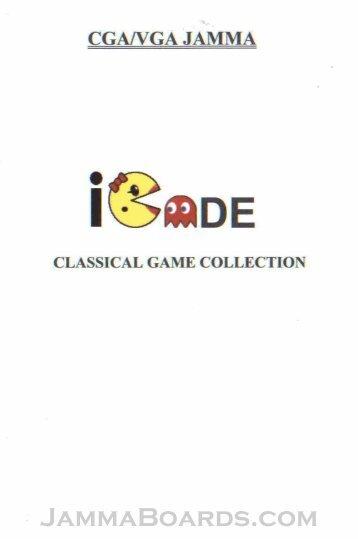 60-in-1 ICade Classic Arcade Manual – JAMMA - JammaBoards.com