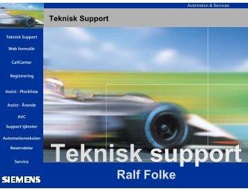 Teknisk Support - Siemens