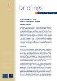 The Economics and Politics of Migrant Rights - COMPAS