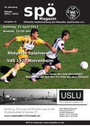 Rheydter Spielverein - VdS 1920 Nievenheim - beim Rheydter SV