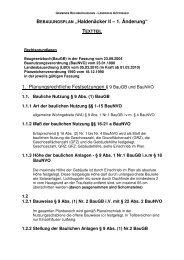Haldenäcker II 1_Änderung - Textteil - Gemeinde Rechberghausen