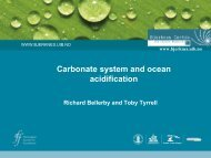 Carbonate system and ocean acidification - meece