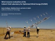 Wind resource evaluation at the Caltech Field Laboratory for ...