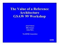 The Value of a Reference Architecture - USC Center for Systems ...