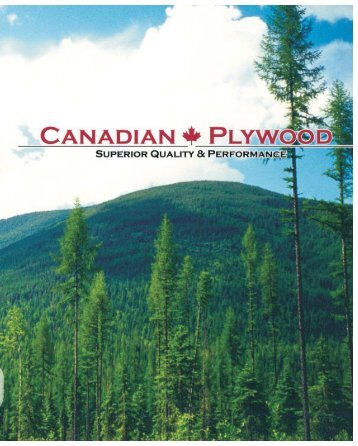 Why Plywood...Why Canadian Plywood Brochure
