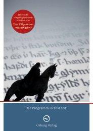 Osburg Verlag Programm Herbst 2011 - Schwindkommunikation