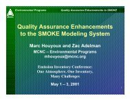 Quality Assurance Enhancements to the SMOKE Modeling System