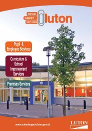 Service Contact - Schools Support Services Luton - Luton Borough ...