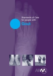 Standards Of Care For People With Gout - The Arthritis and ...