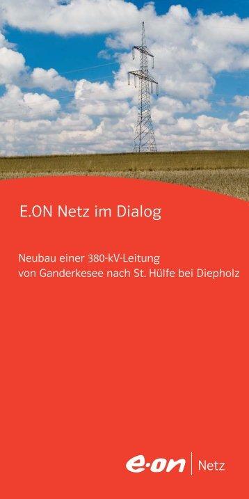 E.ON-Flyer - Netzausbau in Niedersachsen