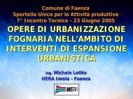 opere di urbanizzazione fognaria - SUAP - Comune di Faenza