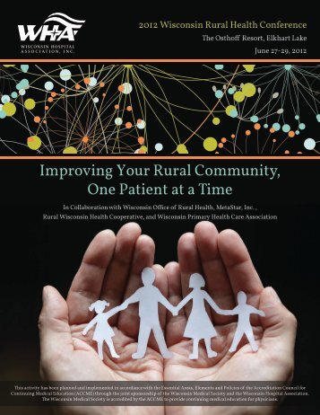 2012 Wisconsin Rural Health Conference brochure