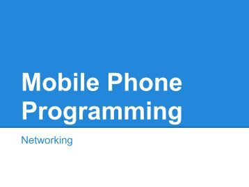 Networking - mobile devices