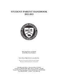 Student-Parent Handbook - Notre Dame High School