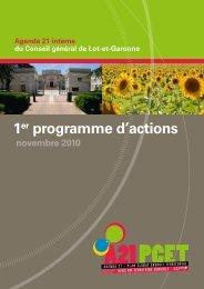 1er programme d'actions - Le site du conseil général du Lot-et ...