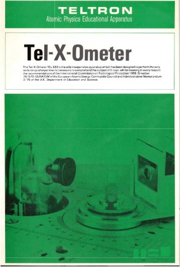 Tel-X-Ometer brochure - Department of Chemistry & Physics
