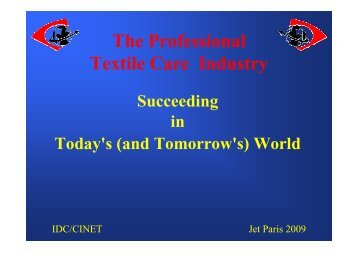 Download presentation - CINET. International Committee of Textile ...