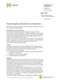 Projektbeskrivelse for træningshaven - Region Hovedstadens Psykiatri