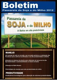Boletim - Revista Passarela da Soja 2012 - Fundação Bahia