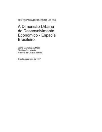 A Dimensão Urbana do Desenvolvimento Econômico ... - Ipea