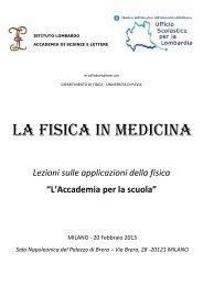 Fascicolo riassunti - Istituto Lombardo Accademia di Scienze e Lettere