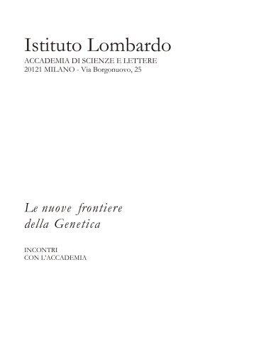 Abstracts - Istituto Lombardo Accademia di Scienze e Lettere