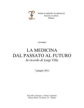 Riassunti degli interventi - Istituto Lombardo Accademia di Scienze ...