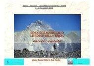 cosa ci raccontano le rocce della terra - Istituto Lombardo ...