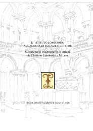 Mostra per il Bicentenario di attività dell'Istituto Lombardo a Milano