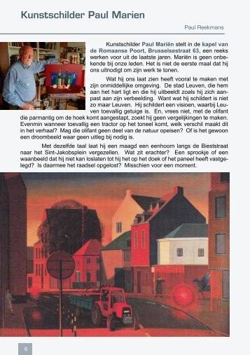 Kunstschilder Paul Marien - Leuvens Historisch Genootschap