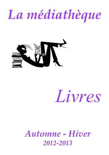CATALOGUE LIVRES Automne 2012