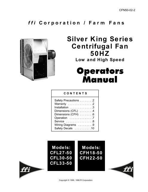 SK 50 HZ Centrifugal Fan Operators Manual - ffi - Farm Fans ...Yumpu
