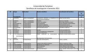 Universidad de Pamplona Semilleros de Investigación II Semestre ...