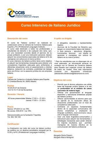 Curso Intensivo de Italiano Jurídico - CCIS