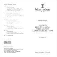 convegno lingue - Istituto Lombardo Accademia di Scienze e Lettere