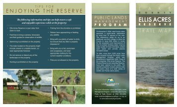 Ellis Acres Reserve Trail Map and Brochure - Lake County