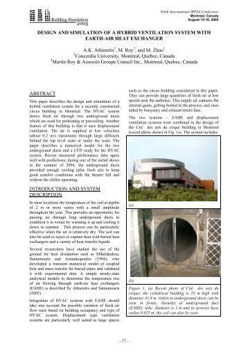 Hybrid Ventilation System : Design of a modern subway ventilation system arup