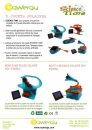 FP JOUETS SOLAIRES - Eqwergy