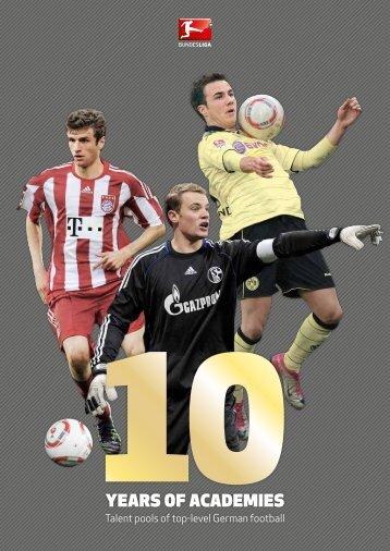 German Football - 10 years. Of academies