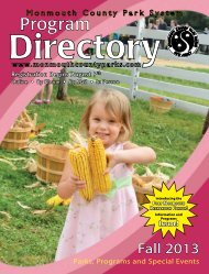 Fall Program Directory - Monmouth County