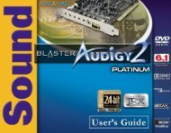 3Using Audigy 2 Software - Creatives Site