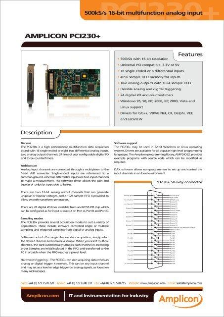 Driver for Amplicon PCI230