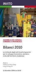 Bilanci 2010 - Comune di Spilamberto
