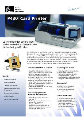 Zebra Kartendrucker P430i
