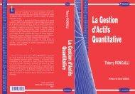 La Gestion d'Actifs Quantitative - Thierry Roncalli's Home Page